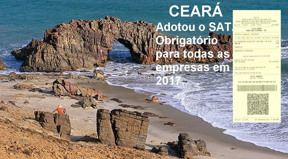Ceará adotou o SAT na emissão de Nota Fiscal, obrigatório para todas as empresas em 2017.