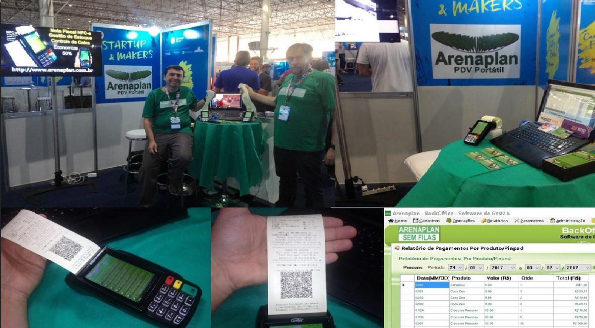 Máquina de Cartão Emitindo Nota Fiscal foi destaque na Campus Party